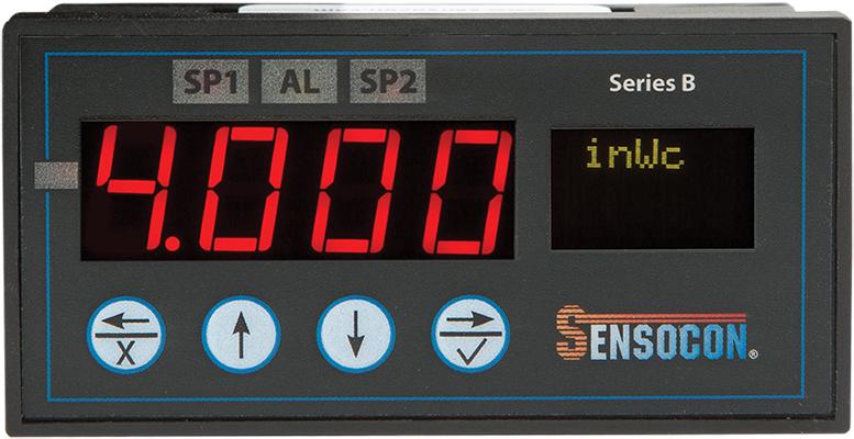 B4 1/8 DIN Digital Differential Pressure Gauge