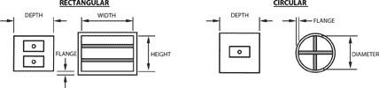 JFM-S FloSen Airflow Measuring Station Dimensional Drawing