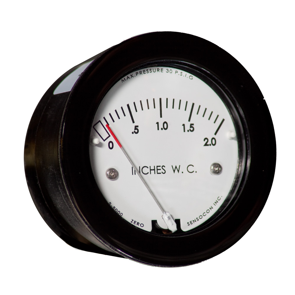 S-5000 Miniature Low-Cost Differential Pressure Gauge