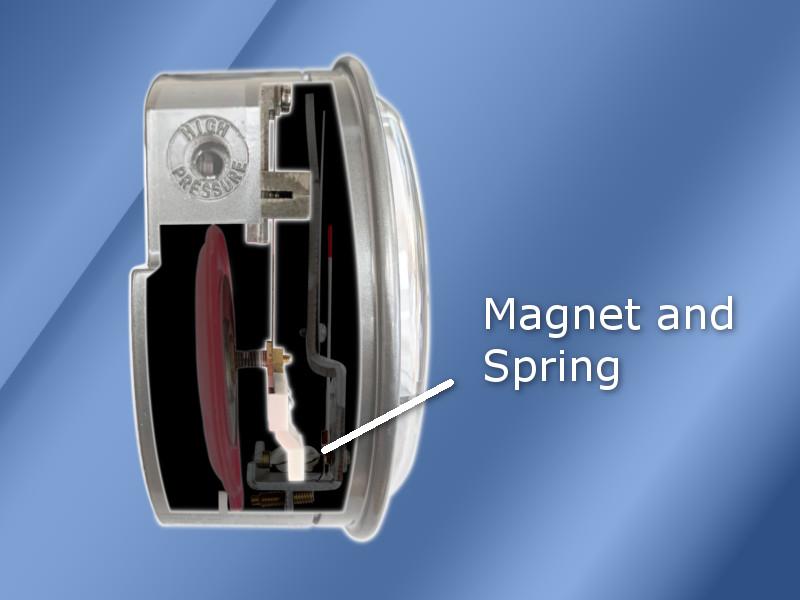 Differential Pressure Gauge Magnet Helix